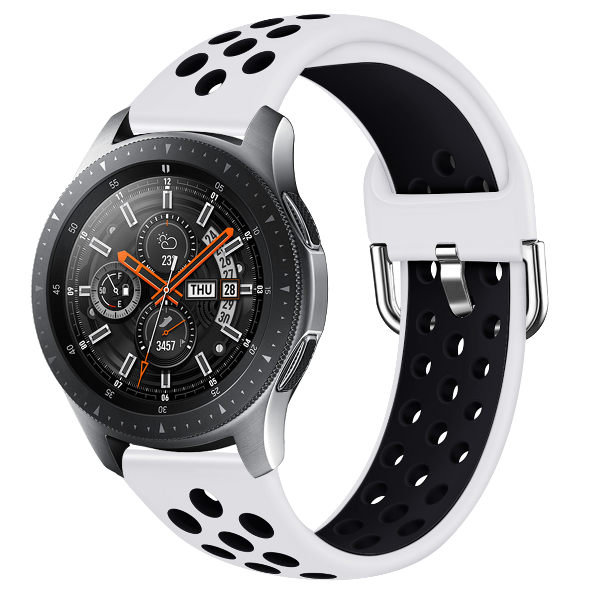 22mm Silicone Watchband For Samsung Galaxy Watch 46mm Replacement Bracelet Band Strap For SM-R800 Huawei GT 2  91002