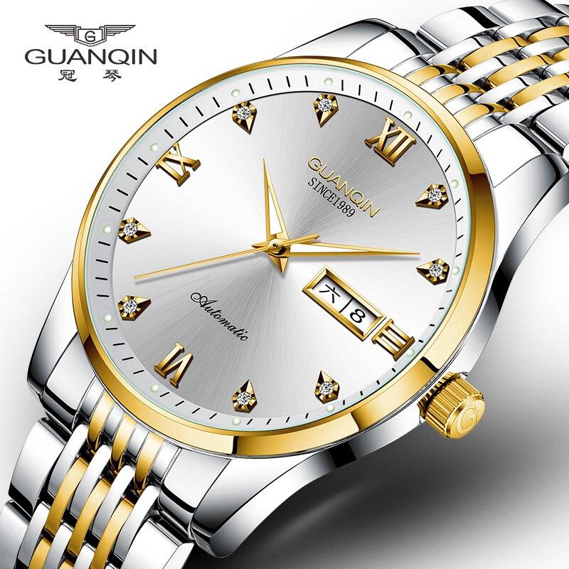Mechanical Automatic Watch Man GUANQIN GJ16140 Mens Watches Top Brand Luxury MIYOTA 8205 21 Jewels Week Date Luminous Waterproof