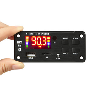 Image 3 - 5V 12V MP3 modülü WMA MP3 dekoder kurulu büyük renkli ekran 12V kablosuz Bluetooth 5.0 ses modülü USB TF radyo araba için kayıt