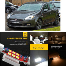 LED Interior Car Lights For Fiat bravo l 182 hatchback bravo ll 198 hatchback coupe 175 Dome map lamp bulb error free