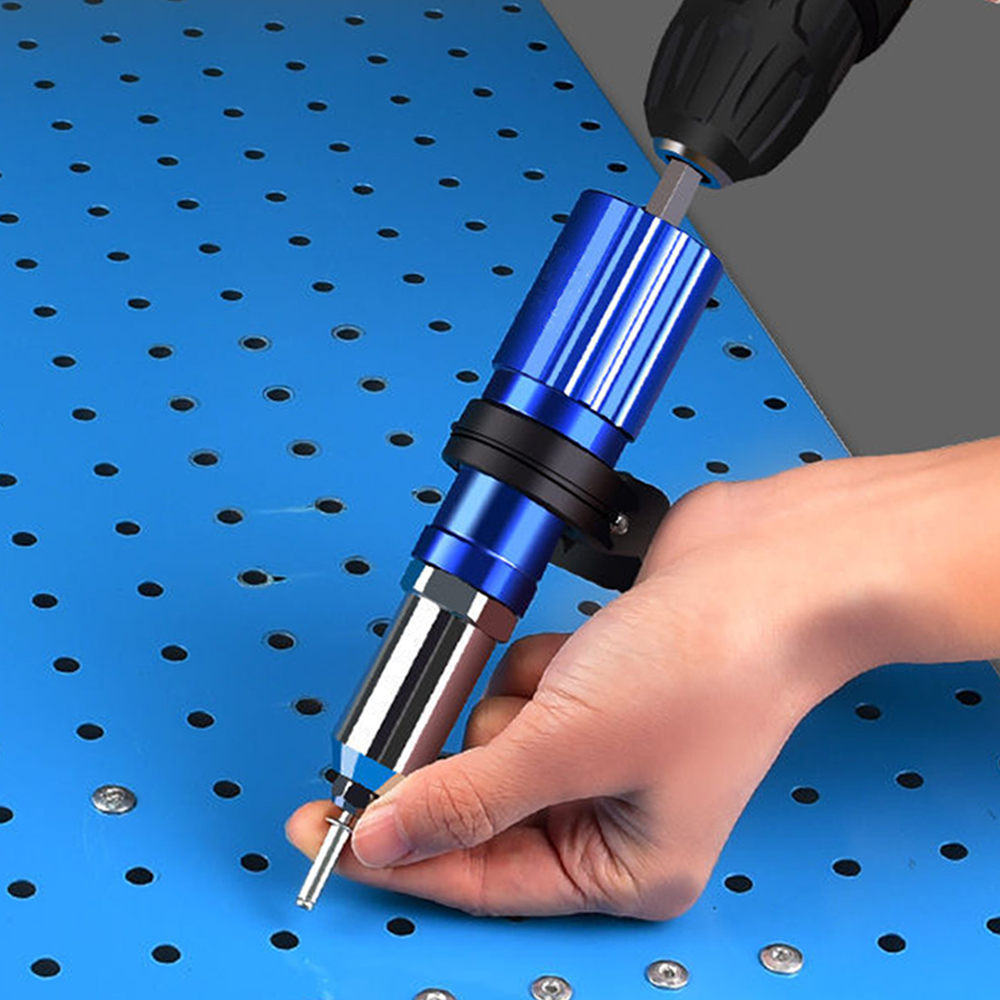 Electric Rivet Gun Adapter 2.4mm-4.8mm Blind Rivet Nut Drill Adapter Riveting Tool Insert Nut Tool