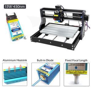 Image 4 - EU/RU/US CNC 3018 Pro 0.5W 2.5W 5.5W 15W Laser Engraving Router Machine for Wood Working GRBL Offline Control
