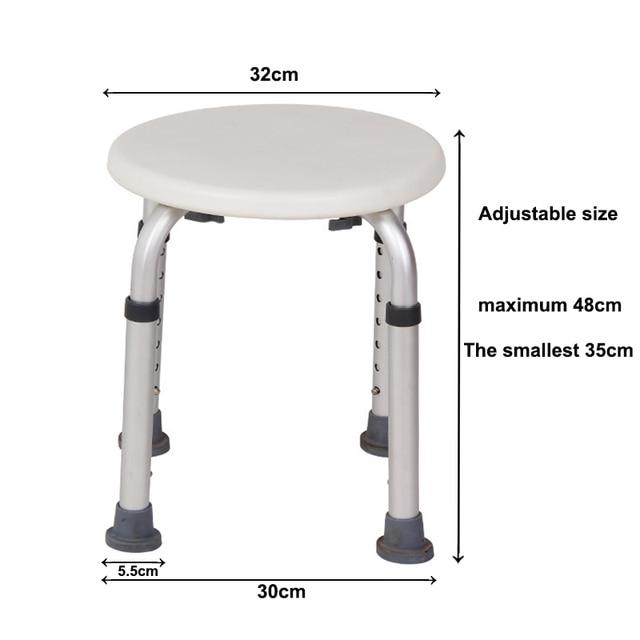 Non-slip Bath Chair w/ 6 Gears Height Adjustable 5