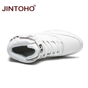 Image 5 - JINTOHO Men Winter Boots Fashion White Leather Sneakers Casual Mens Ankle Boots Male Leather Boots Winter Men Shoes Men Booties