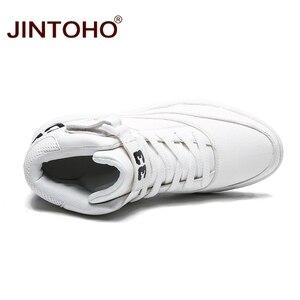 Image 5 - Jintho homens botas de inverno moda de couro branco tênis casuais homens botas de tornozelo botas de couro masculino botas de inverno