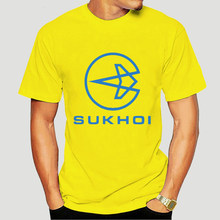 New Sukhoi Russian Aircraft Company Logo Men White T-Shirt Size S to 3XL-2593A(China)