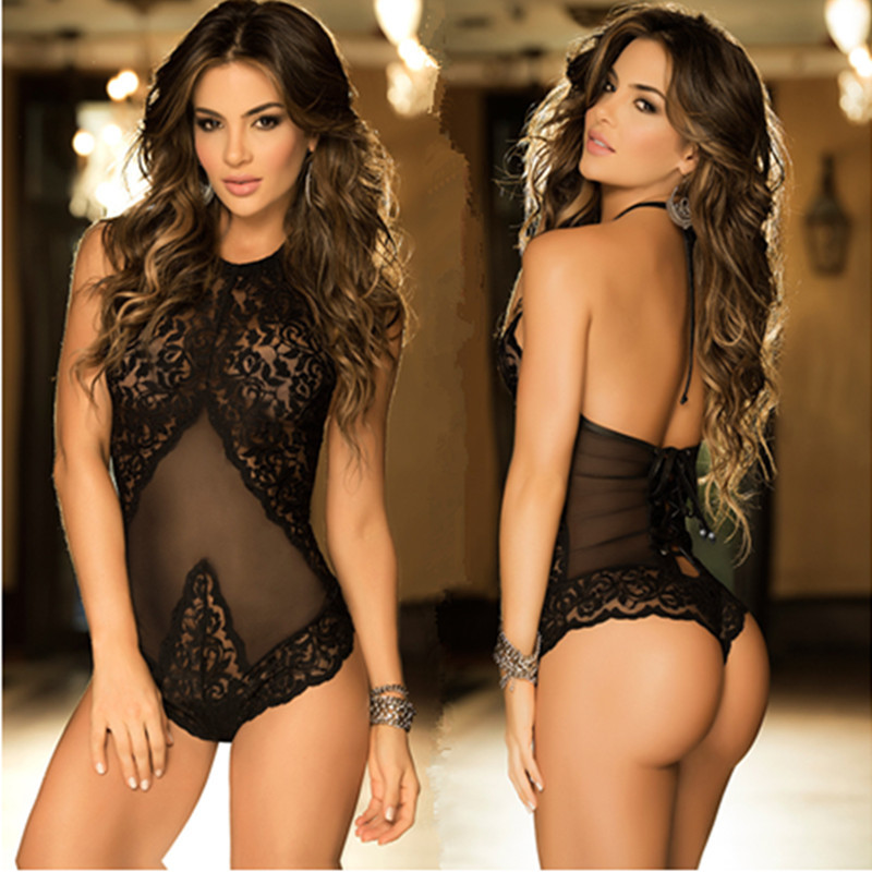 Rovinci Women Sexy Lingerie Nightdress Lace Jumpsuit One