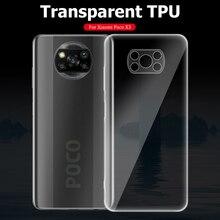 רך ברור מצלמה עדשת הגנת טלפון מקרה עבור Xiaomi POCO X3 פרו NFC POCOX3 X3Pro X3NFC יוקרה סיליקון Ultra דק כיסוי אחורי