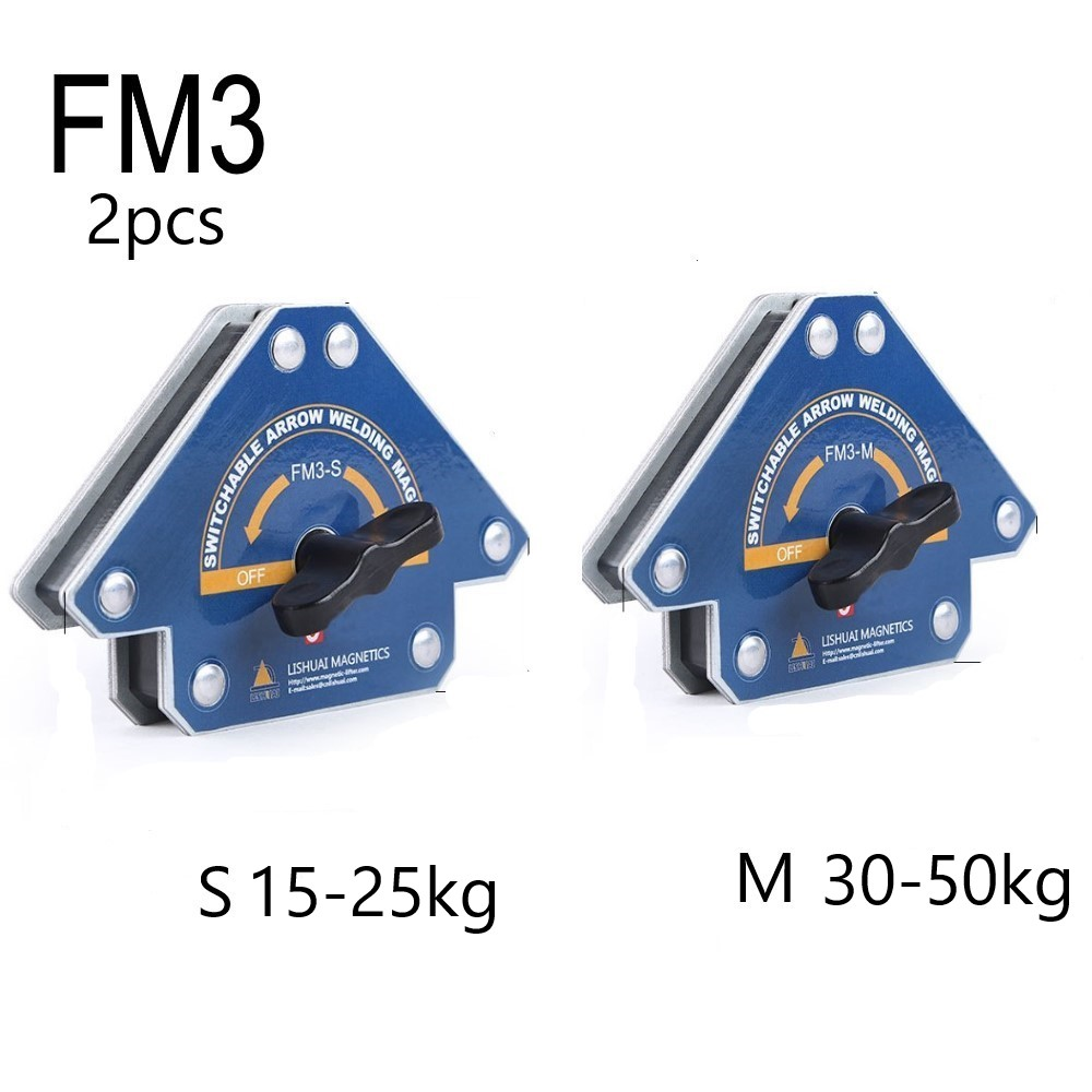 2PCS Switchable Arrow Welding Holder Magnetic Multi-Angle Solder Arrow Strong Magnet Weld FM3