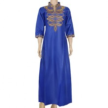 Embroider Dress 2020 New Arrivals African Dashiki Flowers Pattern Casual African Long Maxi Dresses African Dresses For Women
