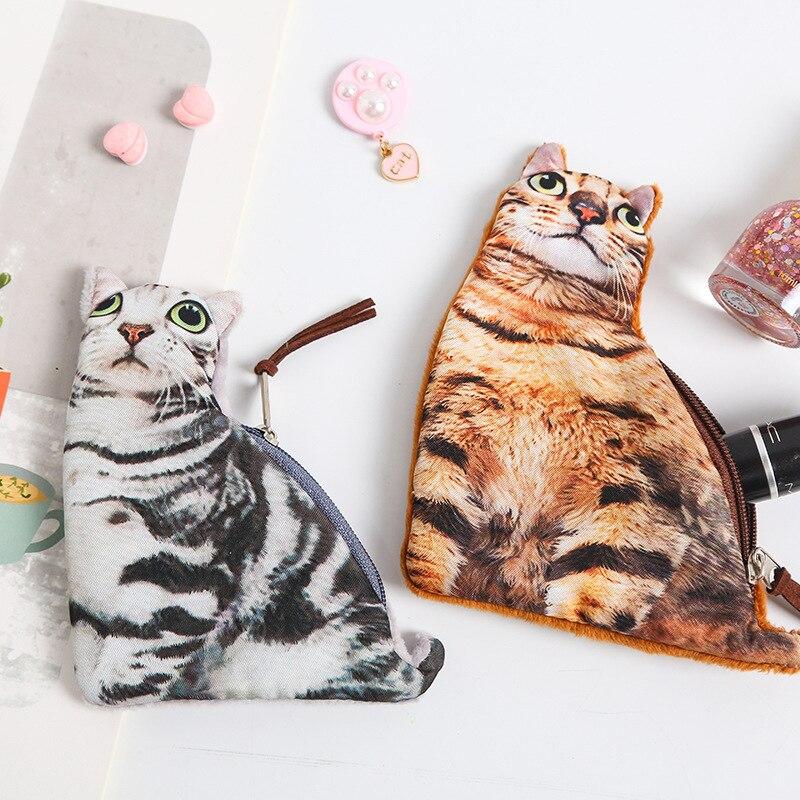 Cute Model Cat 3D Kitty Creative Cartoon Mini Change Wallet Coin Bag