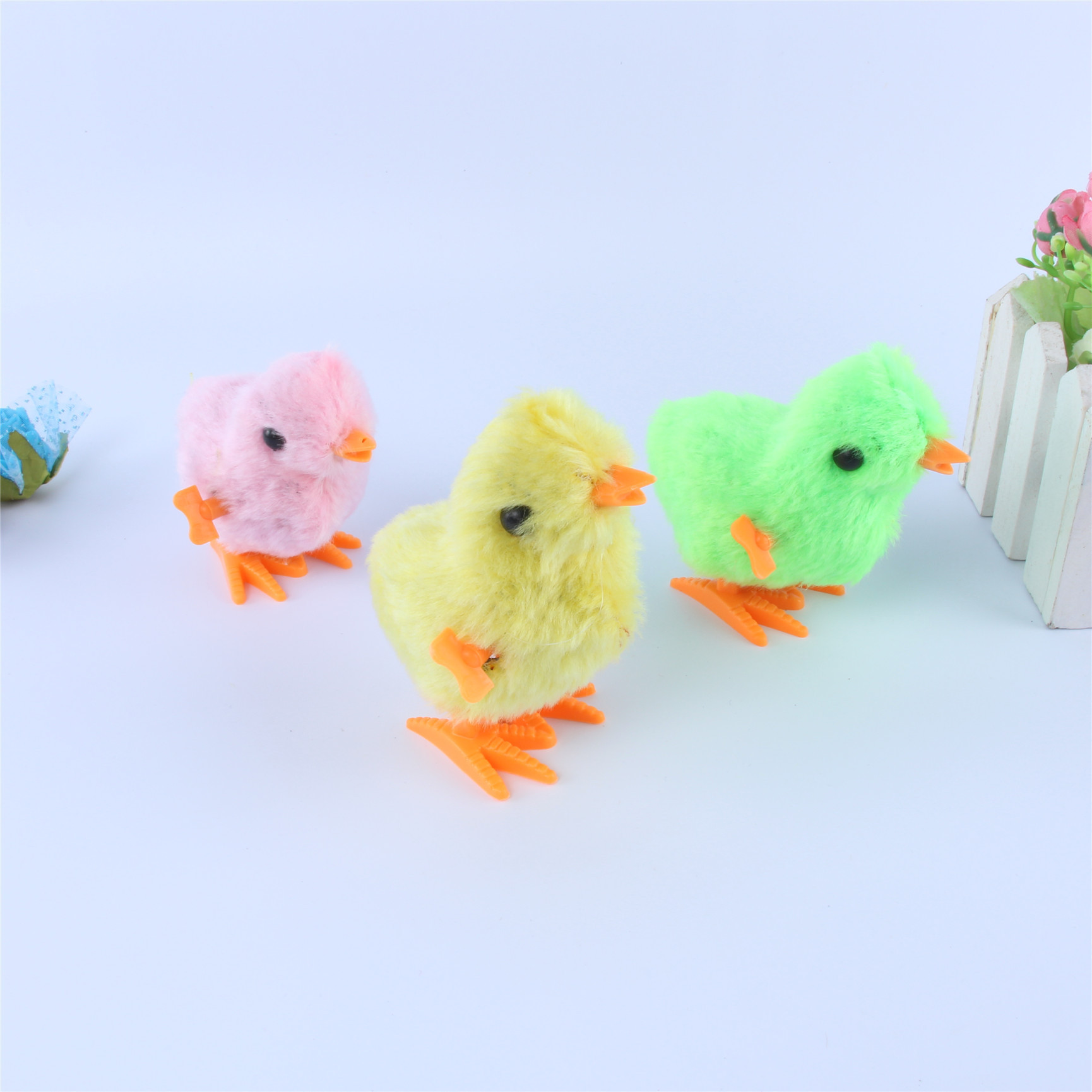 Cute Plush Chicken Toy Winding Spring Chickens Baby Favorite Hot Children Stall Small Toy Wholesale