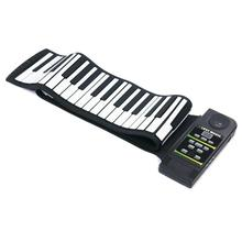 88 Keys Silicone Flexible Digital Hand Roll Up Piano Soft Portable Electronic Folding Keyboard Gift for Children Student