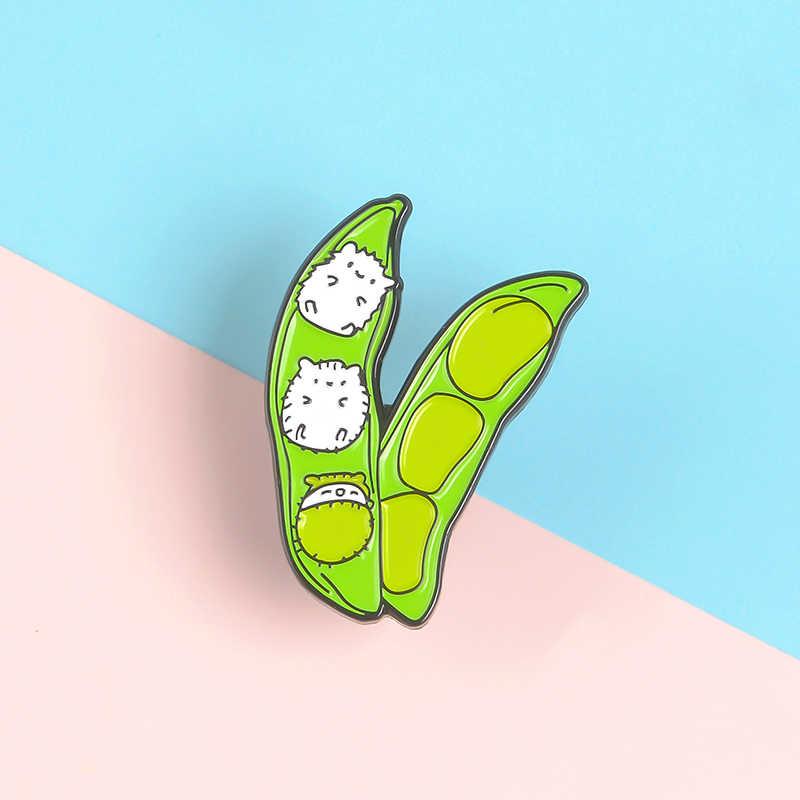 Xanh Bơ Men Chân Bộ Sưu Tập Meme Ketnipz Mèo Con Nhím Huy Hiệu Tùy Chỉnh Trang Sức trâm cài Ve Áo Pin dành cho Nữ