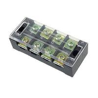 4 Position Double Row Barrier Covered Screw Terminal Block|Connectors| |  -