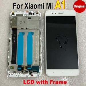 Image 2 - أفضل عمل 100% الأصلي Mi5x شاشة LCD تعمل باللمس محول الأرقام الجمعية الاستشعار مع الإطار ل شاومي Mi A1 MiA1 MA1 5X M5X