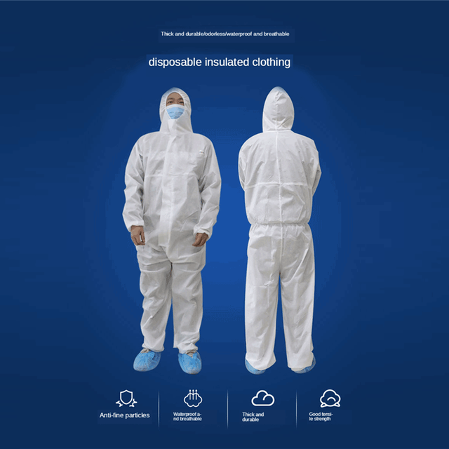 Hazmat PPE Protective Suit Personal protective Equipment Breathable Disposable Coveralls Lsolation suit Safety Clothing PM010 1