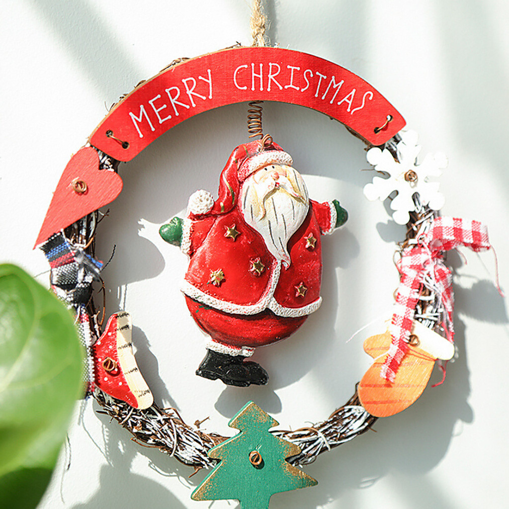 Christmas Wreath Decoration Pendant Wooden Angel Old Snowman Ornament Christmas Yard Decorations Clearance Christmas Decorations From Kenedy $40 35
