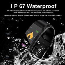 Montre connectée de Sport 115plus pour hommes et femmes, avec moniteur de fréquence cardiaque 24h, pour Ios et Android, nouveau