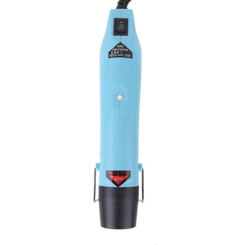 Pistola de ar quente ajustável temperatura GJ-803 300w com bocais ferramenta industrial (plug ue 220v) ferramentas pneumáticas