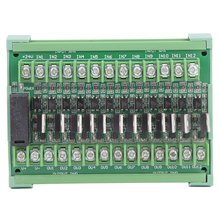 DC12-36V 12-Channel PLC Signal Amplifier Board Isolation Relay Module NPN Input PNP Output new original ap 114br a plc 100 240vac npn pnp 8 point relay 6 point ap