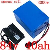 84V 84 84V bateria bicicleta elétrica da bateria 2000 V 3000W scooter elétrico bateria 84V 40AH bateria de lítio pack uso samsung celular