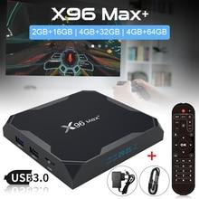 Original X96 MAX Plus Android 9.0 TV BOX Amlogic S905X3 Quad