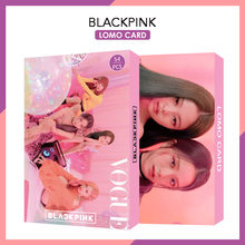 54 개/대 kpop blackpink lomo 카드 새 앨범 사진 카드 jisoo rose lisa jieene photocard hd 앨범 포스터 K-POP blackpink(China)