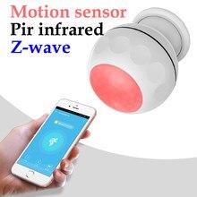 Z-wave mais pir sensor de movimento + sensor de temperatura app controle remoto inteligente infravermelho detector de corpo humano zwave gateway necessário
