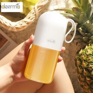 Image 1 - Deerma DEM NU01 Portable Mini Fruit Juicer Kitchen Electric Mixer Mini Capsule Shape Powerful Electric Cup