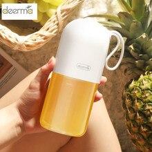 Deerma Mini exprimidor de frutas portátil, DEM NU01, mezclador eléctrico de cocina con forma de cápsula, taza eléctrica potente
