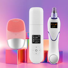 Ultrasonic Skin Scrubber Ultrasonic Facial Cleaner Blackhead Remover Vacuum Electric Face Cleaning Brush Ultrasonic Peeling