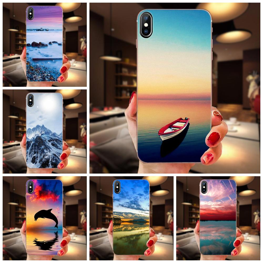 Scenery Snow Silicon Mountain Landscape For <font><b>Samsung</b></font> Galaxy A10 A20 A20E A3 A40 A5 A50 A7 J1 J3 J4 J5 J6 J7 2016 2017 2018 Case image