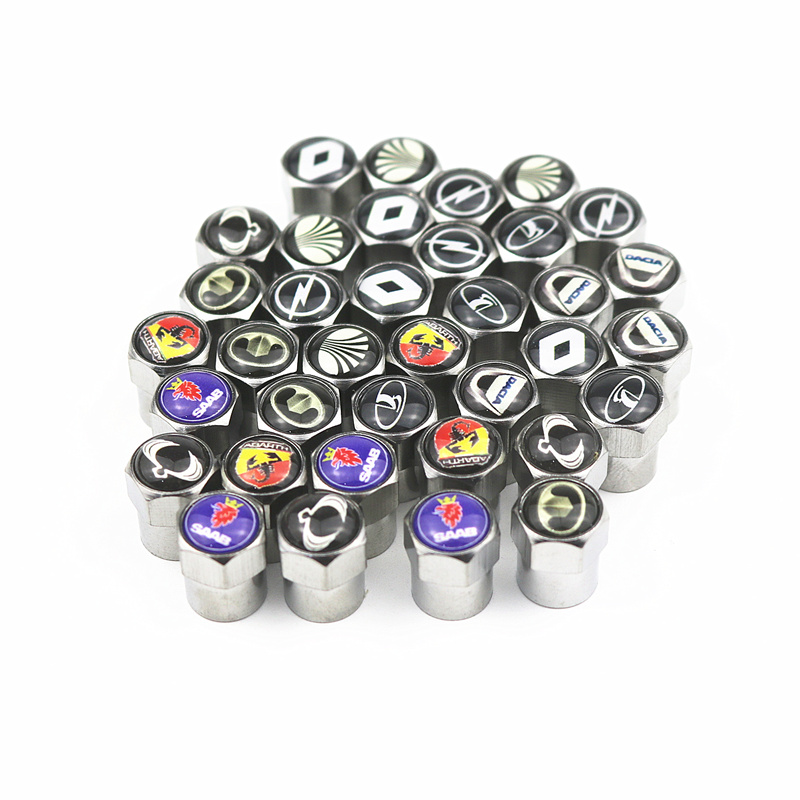 4pcs New Metal Wheel Tire Valve Caps Stem Case For Hyundai Suzuki Mazda Opel Opel Toyota Chevrolet Bmw Kia Car Accessories