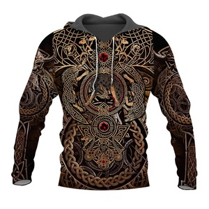 Image 1 - Liumaohua Newest Fashion Viking Warrior Tattoo 3D Printed Shirts casual 3D Print Hoodies/Sweatshirt/Zipper Man Women tops 005