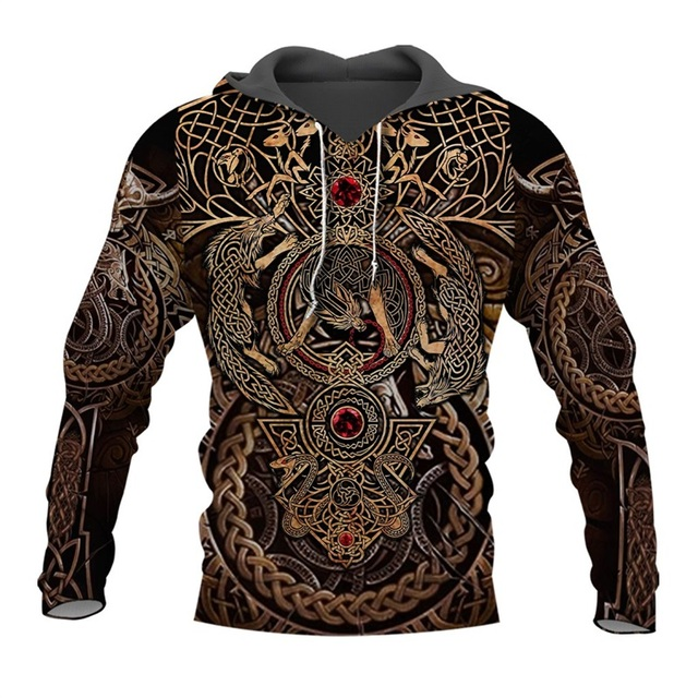 Liumaohua mais recente moda viking guerreiro tatuagem 3d impresso camisas casuais impressão 3d hoodies/moletom/zíper homem mulher topos 005