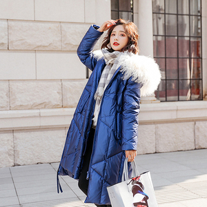 Image 4 - FTLZZ 2020 Winter Jacket Women 90% White Duck Down Coats Large Fur Collar Loose Parkas Outerwear Thick Waterproof Jackets