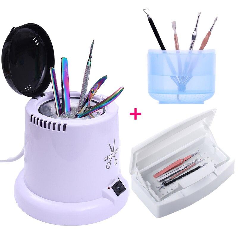 BORN PRETTY Temperature Sterilizer Box Glass Ball Disinfection Box For Nipper Tweezers Manicure Nail Art Sterilizer Tools
