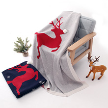 Baby blanket Christmas gift three-dimensional elk baby cotton knit 100*80cm blankets