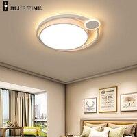 Redondo led modernas luzes de teto para o quarto sala estar jantar montagem embutida luminária decoração lâmpadas teto interior|Luzes de teto| |  -