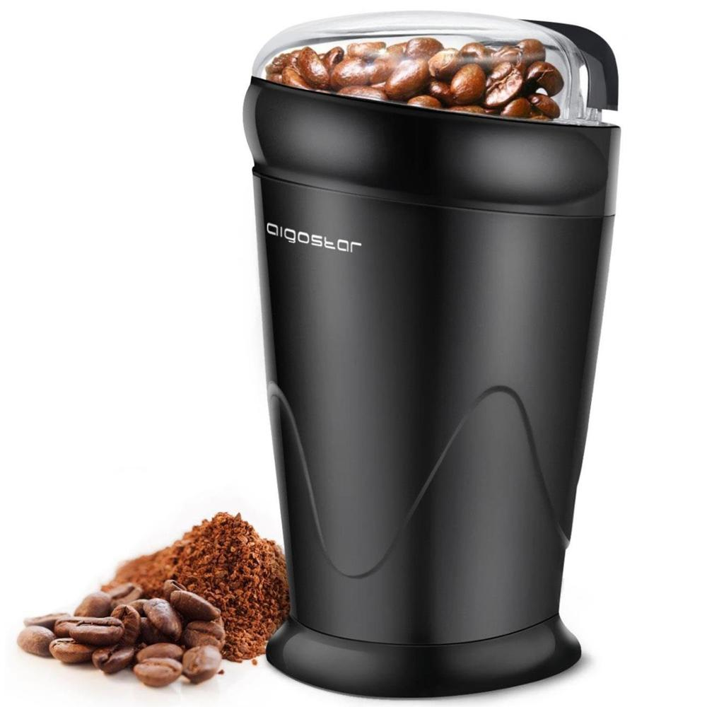 Aigostar Breath 30CFR - One-Touch Electric Coffee Grinder With Anti-wear Stainless Steel Blades, 60g Capacity, 150 W