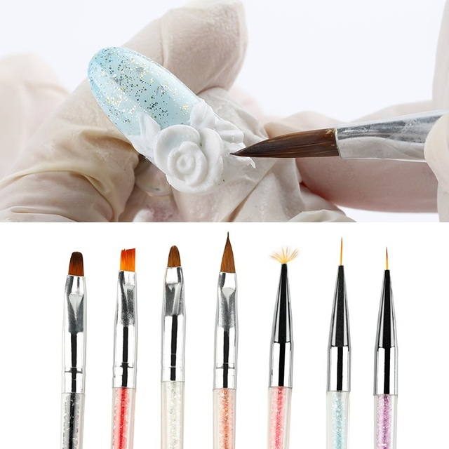 Nailwind Gel nail pollish brushes Pens For nail extenion acrylic powder 3D paiting carving line Manicure Set For nail art Brush 3