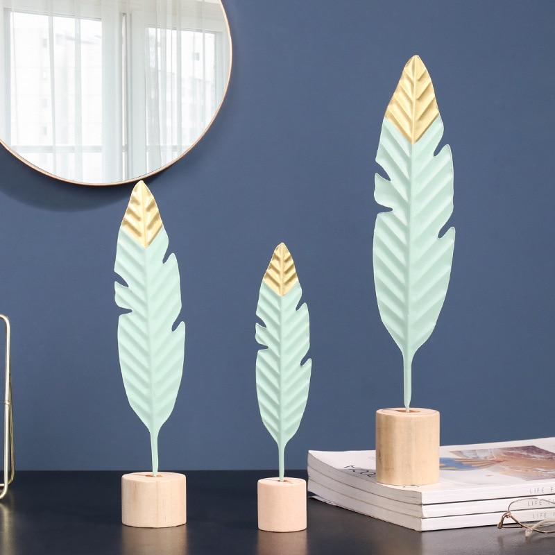 Nordic Kreative Eisen Feder Figur Ornamente Figuren Home Dekoration Zubehör für Wohnzimmer Ornamente für Wohnkultur