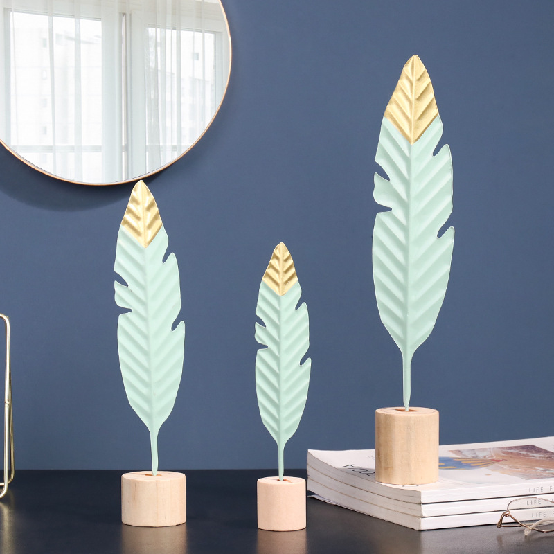 Nordic criativo ferro pena figura ornamentos estatuetas decoração para casa acessórios para sala de estar ornamentos para decoração casa