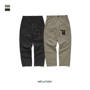 Image 4 - INFLATION Loose Straight Men Cargo Pants 2020 Autumn Streetwear Functional Pocket Men Pants Hip Hop Solid Men Casual Pant 93341W