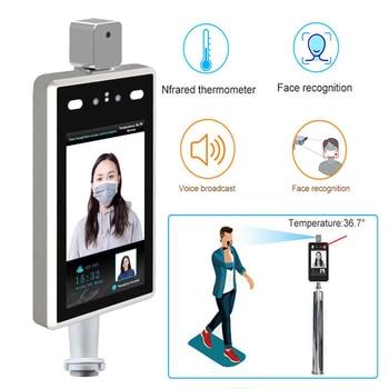 Cámara de reconocimiento Facial de temperatura corporal de 7 pulgadas, cámara de seguridad térmica ip, Control de acceso por detección humana, reconocimiento Facial