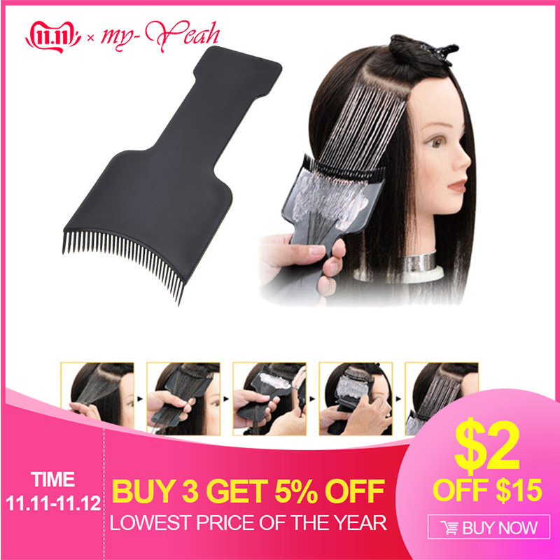 Professional Salon Hair Coloring Dyeing Applicator Brush Comb DIY Dispensing Tinting Highlighting Board Pro Salon Styling Tool