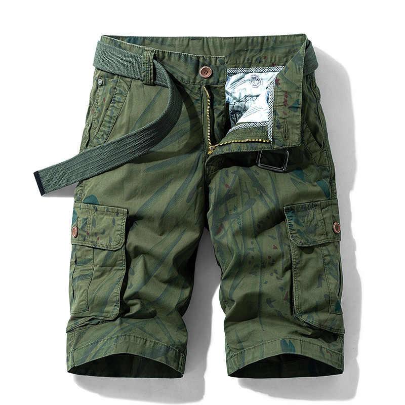 קיץ טקטי מכנסיים קצרים מטען Mens מזדמן רוכסן כותנה חוף מכנסיים קצרים זכר אופנה לנשימה קצר מכנסיים Mens Homme בגדים