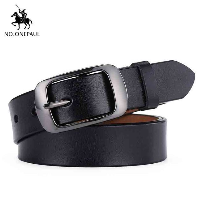 High quality luxury brand ladies metal double buckle new belt with jeans 3
