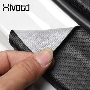 Image 5 - Hivotd para mazda 3 axela bp 2020 2021 acessórios do carro tronco traseiro pára choques protetor adesivos placa de fibra carbono decoração